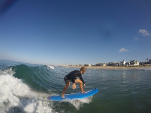 Surf lesson in Newport Beach.